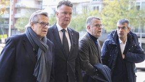 Louis Vangaal acudió a dar el último adiós al expresident