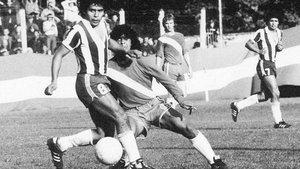 Maradona, en su debut en Primera