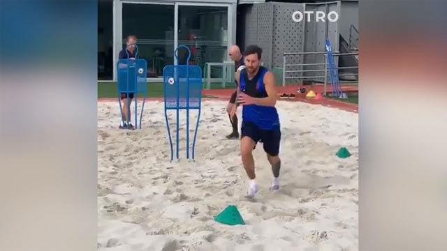 Messi acelera su recuperación para estar ante el Betis