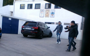 Messi, en el campo del APA Poble Sec