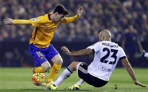 Messi falló dos claras ocasiones