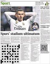 Portada de The Times Sport del 6 de marzo del 2019