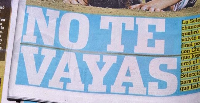 La prensa argentina pide a Messi que no renuncie