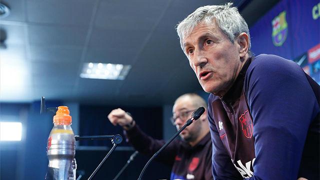 Quique Setién: En el Barça pasas un examen en cada partido