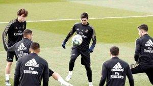 El Real Madrid se entrenó con algunas bajas