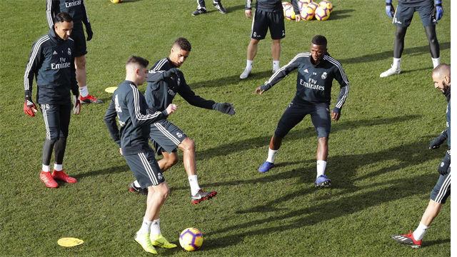 El Real Madrid prepara el encuentro ante el Huesca