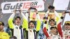 Rossi , Marini y Uccio, en el podio de Yas Marina