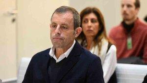 Sandro Rosell , durante el juicio