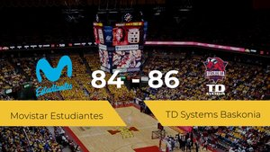 El TD Systems Baskonia se hace con la victoria contra el Movistar Estudiantes por 84-86