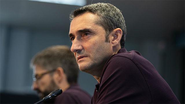 Valverde: Esperamos que Griezmann y Messi se encuentren el campo