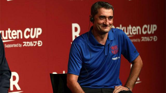 Valverde habló en la presentación de la Rakuten Cup