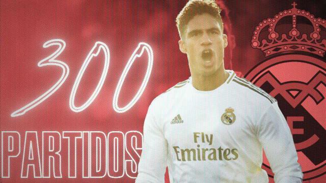 Varane alcanza los 300 partidos con el Real Madrid