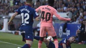 Wague debutó con el primer equipo frente al Huesca