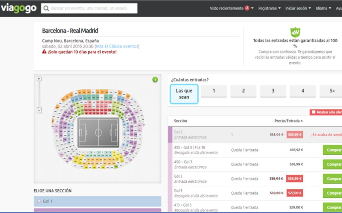 Conozca el precio de las entradas para el cl sico en la for Precio entrada jardin botanico madrid