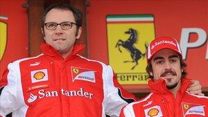 Domenicali junto a Fernando Alonso durante su etapa con Ferrari