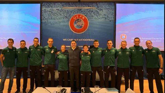 Velasco Carballo asiste al curso de UEFA en Mallorca