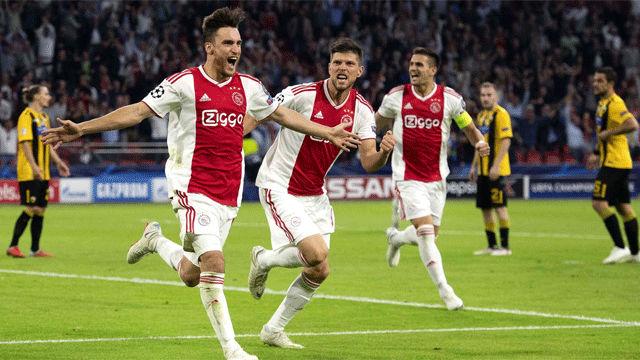 El Ajax goleó en la segunda mitad