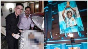 Amenazan de muerte al que se hizo la foto con el cadáver de Maradona