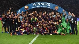 El Barça celebró su última Champions en 2015