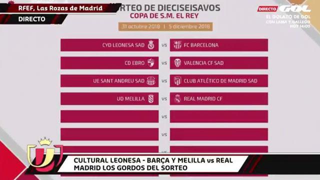 El Barça se enfrentará a la Cultural Leonesa en los 1/16 de Copa