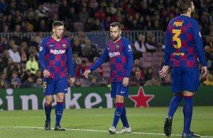 El Barça jugó un mal partido ante el Slavia de Praga en el Camp Nou