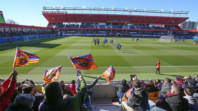 El Barça volvió a abrir las puertas de su entrenamiento en la vigilia de Reyes