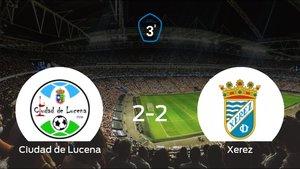 El Ciudad de Lucena y el Xerez se reparten los puntos tras empatar a dos