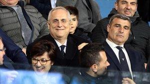 Claudio Lotito habló sobre la posibilidad de disputar un play-off para definir la Serie A