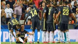 Cristiano Ronaldo se puso a llorar tras ser expulsado