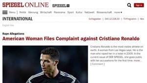 Der Spiegel informa de una presunta violación de Cristiano Ronaldo