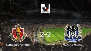 Empate a dos entre el Nagoya Grampus y el Gamba Osaka
