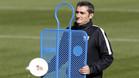 Ernesto Valverde, en un entrenamiento con el Athletic
