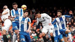 El Espanyol estuvo a un nivel defensivo muy alto en Mestalla.