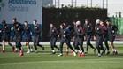El filial azulgrana se ejercitó en la Ciudad Deportiva antes de viajar a Córdoba
