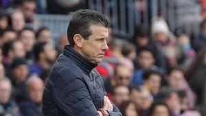 Juan Carlos Unzué, entrenador del Celta