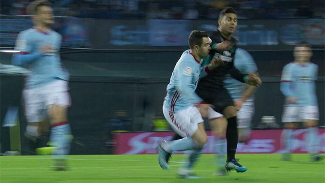 LALIGA   Celta Vigo - Real Madrid (2-2): Codazo de Casemiro
