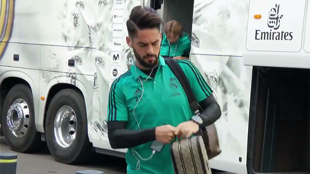 LALIGA | Isco llegó serio al Santiago Bernabéu