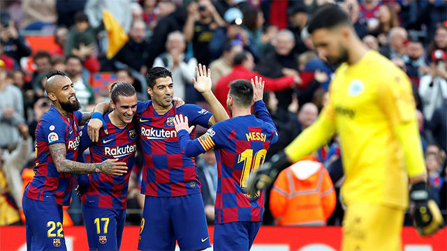 Las notas de los jugadores del Barça al descanso
