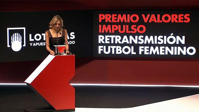 Las retransmisiones partidos femeninos, Premio Valores Impulso