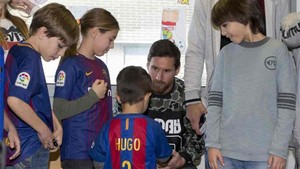 Leo Messi estuvo en el Hospital de Sant Pau