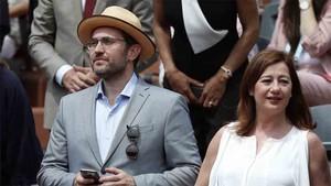 Màxim Huerta asistió a la final de Roland Garros