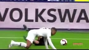 Mbappé fue expulsado por una entrada salvaje