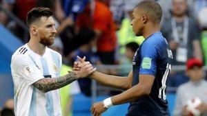 Messi y Mbappé, en el pasado Mundial