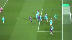 Messi nunca ha marcado un gol olímpico... pero lo rozó ante el Slavia