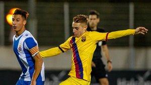 Peque, otro debutante en el Barça B