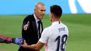 La relación entre Jovic y Zidane no parece fluida