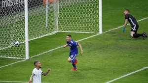 Richard Sánchez celebrando su gol