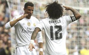 Ronaldo, Marcelo y su particular celebración del gol del portugués