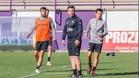 Sergio González, en el entrenamiento del Valladolid