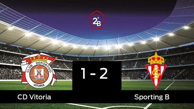 El Sporting B gana por 1-2 al Vitoria